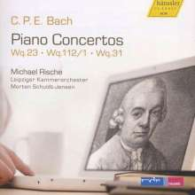 Carl Philipp Emanuel Bach (1714-1788): Klavierkonzerte Wq.23,Wq.31,Wq.112 Nr.1, CD