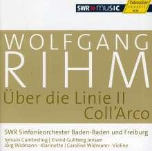 Wolfgang Rihm (geb. 1952): Über die Linie II für Klarinette & Orchester, CD