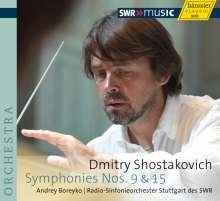 Dmitri Schostakowitsch (1906-1975): Symphonien Nr.9 & 15, CD