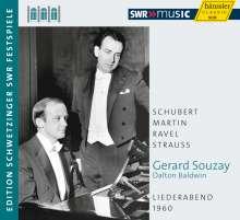 Gerard Souzay - Liederabend 1960 (Schwetzinger Festspiele), CD
