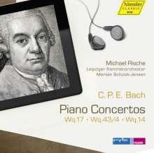 Carl Philipp Emanuel Bach (1714-1788): Klavierkonzerte Wq.14, Wq.17, Wq. 43/4, CD