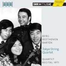 Tokyo String Quartet - Quartet Recital 1971 (Schwetzinger Festspiele), CD
