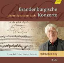 Johann Sebastian Bach (1685-1750): Brandenburgische Konzerte Nr.1-6 (120g), 2 LPs