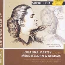 Johanna Martzy plays Mendelssohn & Brahms, CD