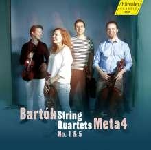 Bela Bartok (1881-1945): Streichquartette Nr.1 & 5, CD
