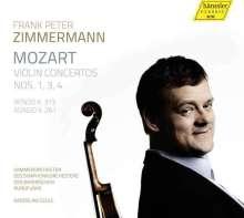 Wolfgang Amadeus Mozart (1756-1791): Violinkonzerte Nr.1,3,4, CD
