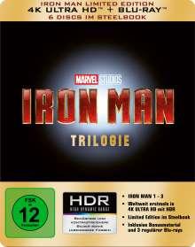 Iron Man Trilogie (Ultra HD Blu-ray & Blu-ray im Steelbook), 3 Ultra HD Blu-rays