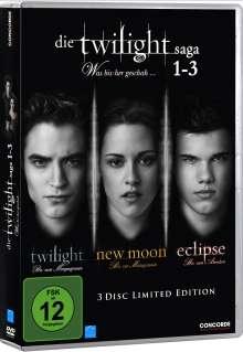Twilight-Saga 1-3 (Twilight / New Moon/ Eclipse), 3 DVDs