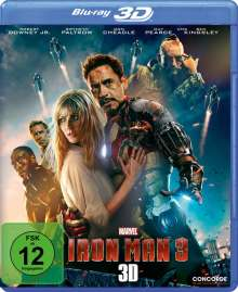 Iron Man 3  (3D & 2D Blu-ray) (Ohne Lenticular-Cover), Blu-ray Disc