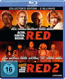 R.E.D. / R.E.D. 2 (Blu-ray), 2 Blu-ray Discs