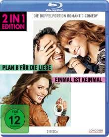 Plan B für die Liebe / Einmal ist keinmal (Blu-ray), 2 Blu-ray Discs