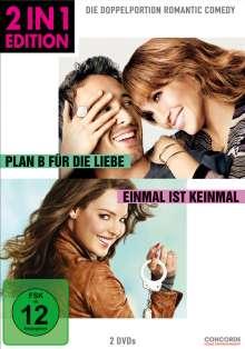 Plan B für die Liebe / Einmal ist keinmal, 2 DVDs