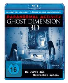 Paranormal Activity 5: The Ghost Dimension (3D & 2D Blu-ray), 2 Blu-ray Discs
