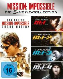 Mission: Impossible 1-5 (Blu-ray), 5 Blu-ray Discs
