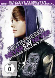 Justin Bieber - Never Say Never, DVD
