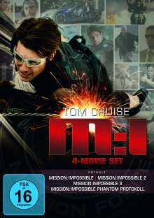 Mission: Impossible 1-4, 4 DVDs