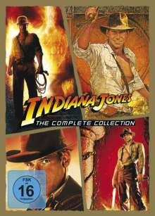 Indiana Jones 1-4: Die komplette Tetralogie, 5 DVDs