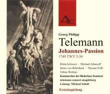 Georg Philipp Telemann (1681-1767): Johannes-Passion 1749, 2 CDs