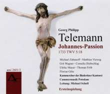 Georg Philipp Telemann (1681-1767): Johannes-Passion (1733) TWV 5:18, 2 CDs