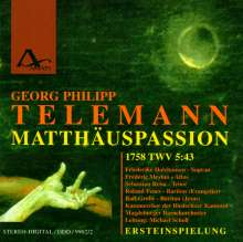 Georg Philipp Telemann (1681-1767): Matthäus-Passion (1758), 2 CDs
