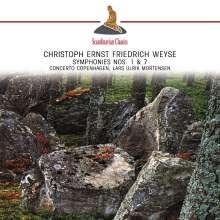 Christoph Ernst Friedrich Weyse (1774-1842): Symphonien Nr.1 & 7, CD