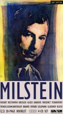 Nathan Milstein spielt Violinkonzerte, 4 CDs