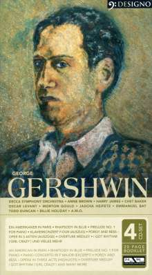 George Gershwin (1898-1937): Ein Amerikaner in Paris, 4 CDs