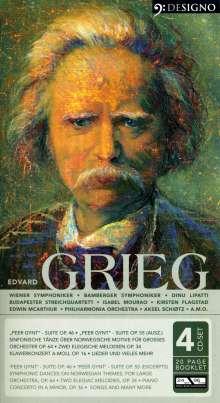 Edvard Grieg (1843-1907): Klavierkonzert op.16, 4 CDs