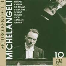 Benedetti Michelangeli spielt Klavierkonzerte, 10 CDs