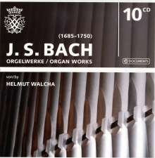 Johann Sebastian Bach (1685-1750): Orgelwerke (Ges.-Aufn.), 10 CDs