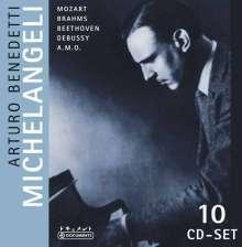 Arturo Benedetti Michelangeli,Klavier, 10 CDs