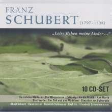 """Franz Schubert (1797-1828): Lieder """"Leise flehen meine Lieder..."""", 10 CDs"""