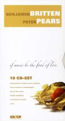 Benjamin Britten (1913-1976): Benjamin Britten & Peter Pears - If Music be the Food, 10 CDs