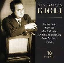 Benjamino Gigli, 10 CDs