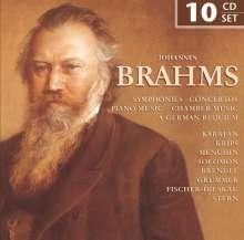 Johannes Brahms (1833-1897): Johannes Brahms, 10 CDs