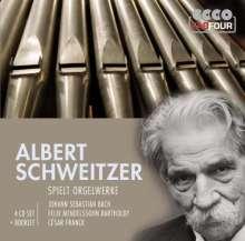 Albert Schweitzer spielt Orgelwerke, 4 CDs