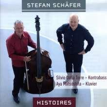 """Stefan Schäfer (geb. 1963): Kammermusik für Kontrabass & Klavier """"Histoires"""", CD"""