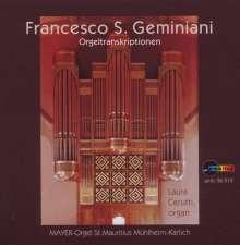 Francesco Geminiani (1687-1762): Orgeltranskriptionen, CD