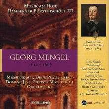 Georg Mengel (1612-1667): Geistliche Werke, CD