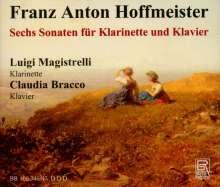 Franz Anton Hoffmeister (1754-1812): Sonaten für Klarinette & Klavier Nr.1-6, 2 CDs