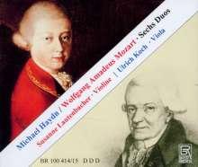 Michael Haydn (1737-1806): 4 Duos für Violine & Viola, 2 CDs