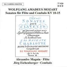 Wolfgang Amadeus Mozart (1756-1791): Flötensonaten KV 10-15, CD