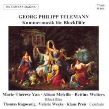 Georg Philipp Telemann (1681-1767): Blockflötenkonzerte C-dur & c-moll, CD