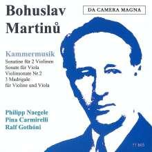 Bohuslav Martinu (1890-1959): Kammermusik, CD