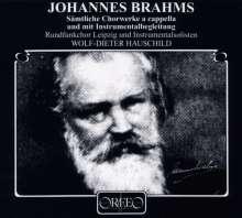 Johannes Brahms (1833-1897): Sämtl.Chorwerke (a cappella & begleitet/120 g), 6 LPs