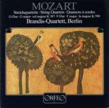 Wolfgang Amadeus Mozart (1756-1791): Streichquartette Nr.14 & 23 (120 g), LP