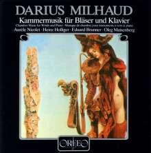 Darius Milhaud (1892-1974): Kammermusik für Bläser & Klavier, CD
