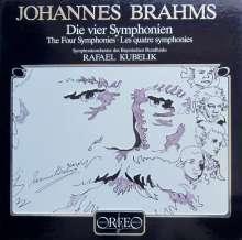 Johannes Brahms (1833-1897): Symphonien Nr.1-4 (120 g), 4 LPs
