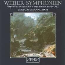 Carl Maria von Weber (1786-1826): Symphonien Nr.1 & 2 (120 g), LP