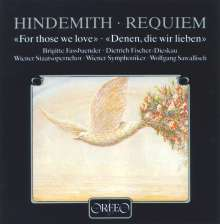 """Paul Hindemith (1895-1963): Requiem """"For those we love"""", CD"""